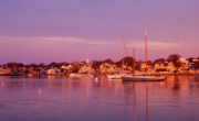 Marthas Vineyard Framed Prints - Edgartown Harbor Framed Print by John Burk
