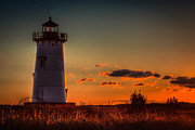 Edgartown Lighthouse Framed Prints - Edgartown Lighthouse Framed Print by George Garbeck