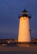 Marthas Vineyard Posters - Edgartown Lighthouse Poster by John Burk