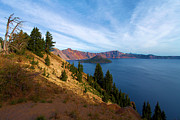 Crater Lake National Park Prints - Edge Of The Crater Print by Adam Jewell
