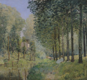 Reflection Of Trees Paintings - Edge of the Wood by Alfred Sisley