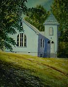 Baptist Paintings - Edgemont Baptist Church by Shirley Braithwaite Hunt