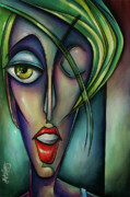 Expression Paintings - Edgey by Michael Lang