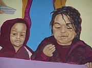 Murals - Edie Mae Henderson feeds the chidren by Charles Peck