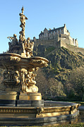 Princes Posters - Edinburgh Castle Poster by David Birchall