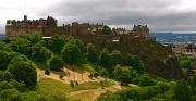 Aeriel View Art - Edinburgh Castle by Louise Fahy