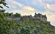 Edinburgh Art - Edinburgh Castle II by Chuck Kuhn