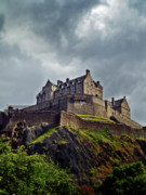 Edinburgh Art - Edinburgh Castle Scotland by Amanda Finan