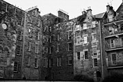Edinburgh Art - Edinburgh Close Square Tenement Buildings Typical Architecture In The Old Town Scotland Uk United Ki by Joe Fox