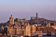 Sunsets Prints - Edinburgh Scotland - A Top-Class European City Print by Christine Till