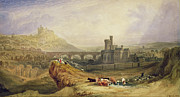 Medieval Framed Prints - Edinburgh Framed Print by Thomas Brabazon Aylmer