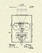 Camera Drawings Prints - Edison Kinetoscope 1911 I Patent Art Print by Prior Art Design