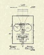 Edison Kinetoscope 1911 I Patent Art Print by Prior Art Design