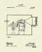 Edison Kinetoscope 1911 II Patent Art  Print by Prior Art Design