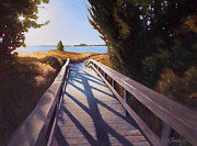 Boardwalk Paintings - Edisto Beach Access by Todd Baxter