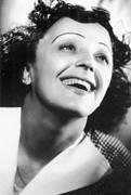 Smiling Photo Posters - Edith Piaf Poster by Granger