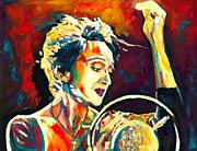 Blues Paintings - Edith Piaf- La Mome by Vel Verrept
