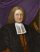 Halley Framed Prints - Edmond Halley, English Astronomer Framed Print by Maria Platt-evans
