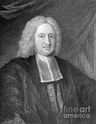 Halley Framed Prints - Edmond Halley, English Polymath Framed Print by Photo Researchers