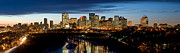 Edmonton Framed Prints - Edmonton Skyline Panorama 1 Framed Print by Terry Elniski