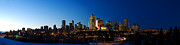 Edmonton Prints - Edmonton Skyline Panorama 2 Print by Terry Elniski