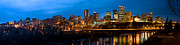 Edmonton Framed Prints - Edmonton Skyline Panorama 5 Framed Print by Terry Elniski