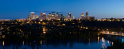 Edmonton Framed Prints - Edmonton Skyline Panorama 6 Framed Print by Terry Elniski