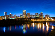Edmonton Framed Prints - Edmonton Skyline Framed Print by Terry Elniski