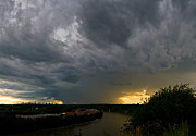Summer Storm Prints - Edmonton Storm Clouds  Print by Terry Elniski