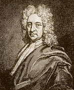 Halley Framed Prints - Edmund Halley, English Astronomer (1656-1742) Framed Print by Dr Jeremy Burgess.