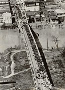 Integration Prints - Edmund Pettus Bridge In Selma Alabama Print by Everett