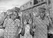 School Houses Drawings - Education Is The Way Out by Curtis James