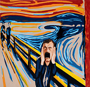 Influences Framed Prints - Edvard Munch - The Scream Framed Print by Dennis McCann