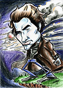 Dracula Drawings - Edward Collins by Big Mike Roate