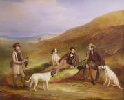 Grouse Prints - Edward Horner Reynard and his Brother George Print by John E Ferneley
