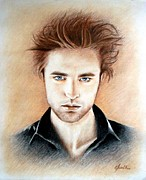 Twilight Drawings Prints - Edward Print by Lena Day