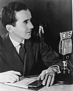 Microphone Prints - Edward R. Murrow 1908-1965 Pioneering Print by Everett