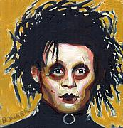 Johnny Framed Prints - Edward Scissorhands Framed Print by Buffalo Bonker