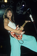 Van Halen Acrylic Prints - Edward Van Halen  Acrylic Print by Rich Fuscia