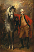 Redcoat Painting Framed Prints - Edward Viscout Ligonier Framed Print by Thomas Gainsborough