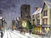 Father Christmas Prints - Edwardian Oxford Print by Mike Lester