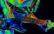 Edward Van Halen Art - Edwards Cosmic Guitar 2 by Ben Upham