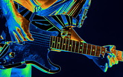 Edward Van Halen Art - Edwards Cosmic Guitar by Ben Upham