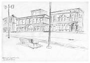 Illinois Drawings - Edwardsville Reconstructed by Joseph A Langley