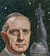 Expanding Light Prints - Edwin Hubble, American Astronomer Print by Science Source