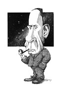 Edwin Hubble, Us Astronomer Print by Gary Brown
