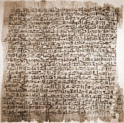 Hieroglyphic Prints - Edwin Smith Papyrus, Oldest Surgical Print by Science Source