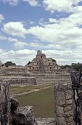 Edzna Mayan Ruins Print by John  Mitchell