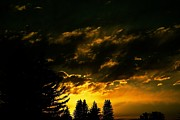 Sunset Framed Prints Metal Prints - Eerie Evening Metal Print by Kevin Bone