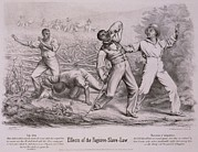 Fugitive Framed Prints - Effects Of The Fugitive-slave-law Framed Print by Everett